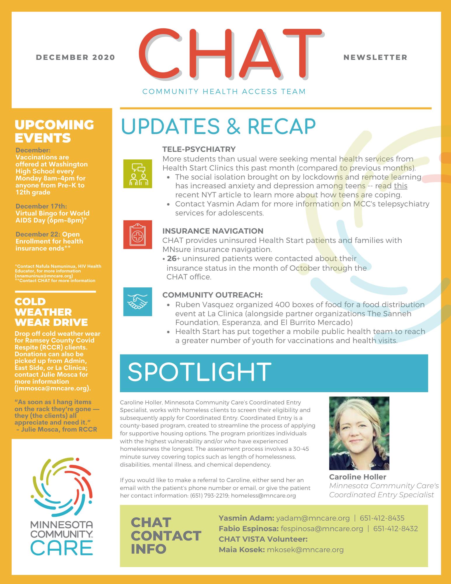 CHAT Newsletter_ December