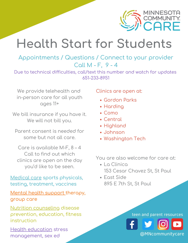 Health Start Back to School
