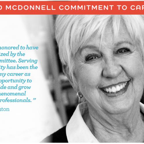 Sandy Naughton 2020 Brad McDonnell Commitment to Care Award Winner