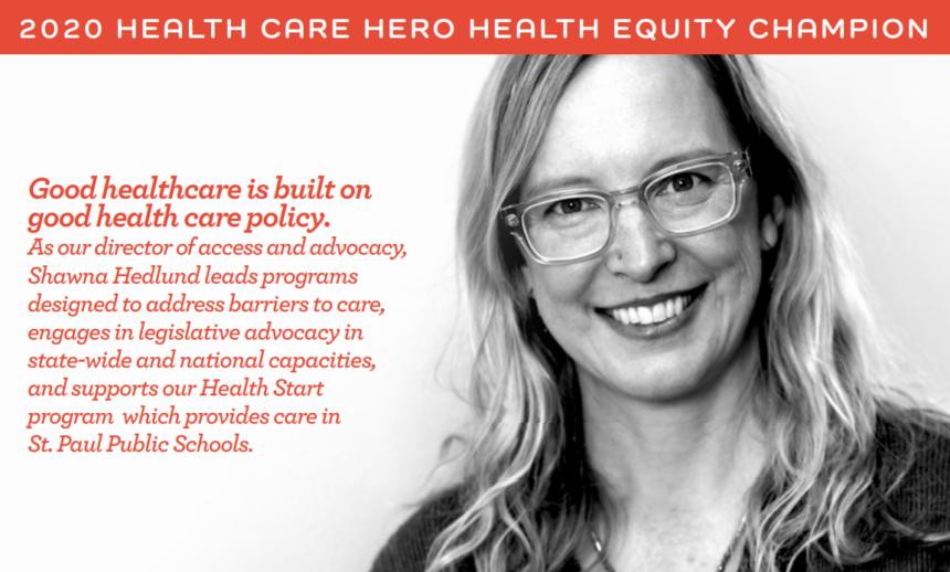 Shawna Hedlund announced to be 2020 Health Care Hero