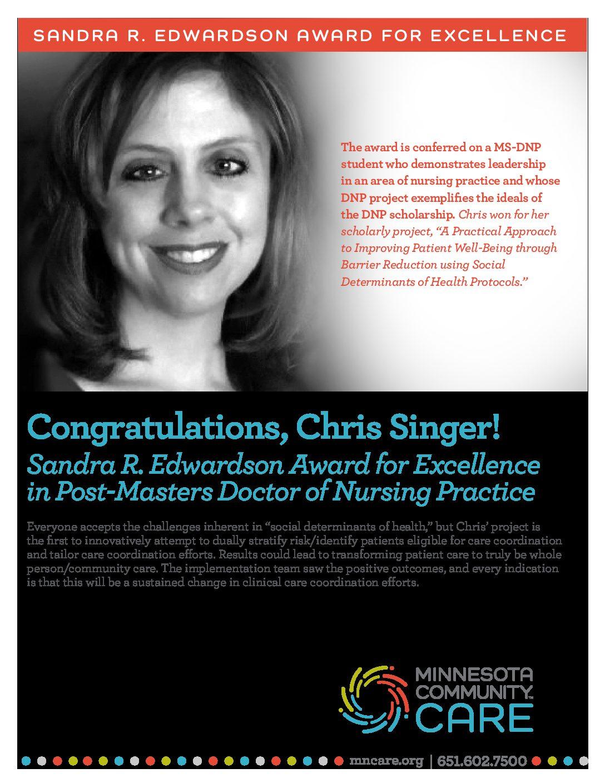 Congratulations, Chris Singer!