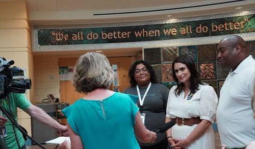 Lt. Gov. Flanagan Visits Minnesota Community Care COVID-19 Vaccine Clinic